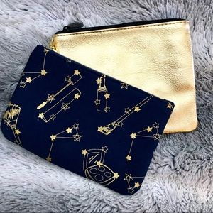 NWOT Astronomy gold and navy IPSY makeup bag